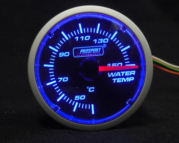 Pro Sport Performance - Brand new! 2 in coolant temperature gauge (black face w/b).